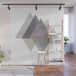 To the Mountains I Must Go, Abstract Geometric Art Wall Mural
