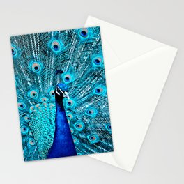 Peacock  Blue 11 Stationery Cards