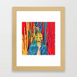 Splash colors Framed Art Print