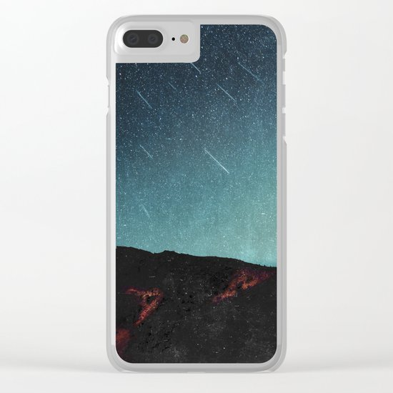 night of falling stars Clear iPhone Case