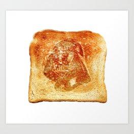 Darth Vader toast Art Print