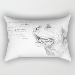Murphy :: Loyalty [with Quote] Rectangular Pillow