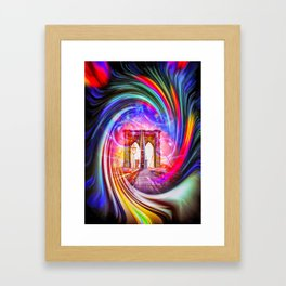 New York Brooklyn Bridge Framed Art Print