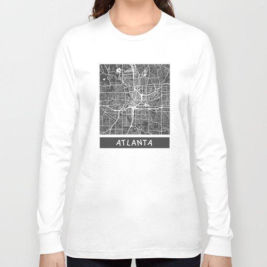 Atlanta map Long Sleeve T-shirt