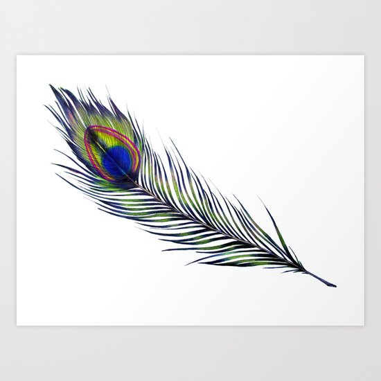 The Peacock's Feather Art Print
