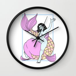 Riding Moby Dick Wall Clock