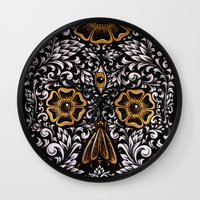 calavera Wall Clocks featuring CALAVERA by Nick Potash