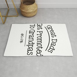 Great Dads Get Promoted To Grandpas Fathers Day Gifts Rug