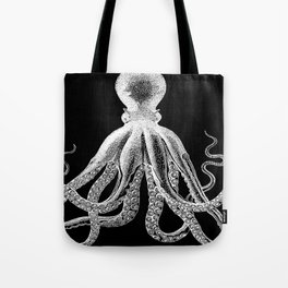 Octopus   Black and White Tote Bag