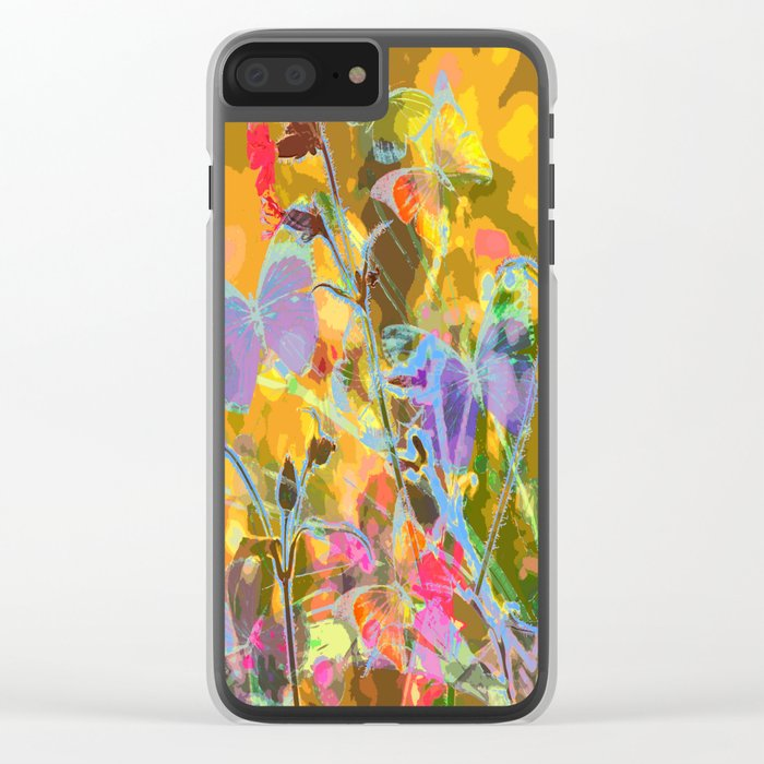 Butterflies flying in meadow - lovely colors and details - summer mood Clear iPhone Case