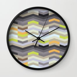 Modern Chevron - Fresh Green Wall Clock