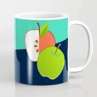 apple Mugs featuring Apple by Sam Osborne