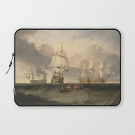 The Victory Returning from Trafalgar, in Three Positions (1806) by J.M.W. Turner Laptop Sleeve