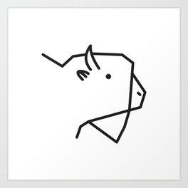 Minimalist American Buffalo Art Print