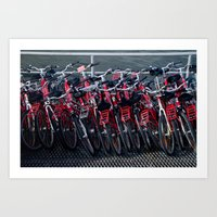 bikes Art Prints featuring bikes by The Botanist's Daughter
