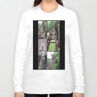 giraffes Long Sleeve T-shirts featuring Giraffes  by grapeloverarts