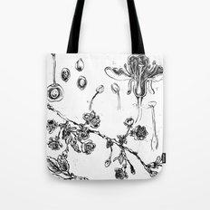 Botanical #CHERRIES Tote Bag