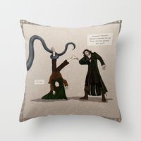 aragorn Throw Pillows featuring Thankless Job by wolfanita
