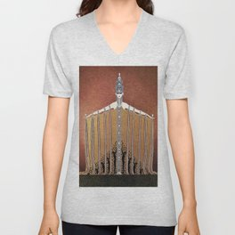 "Design in Art-Deco Style ""Adoration"" Unisex V-Neck"
