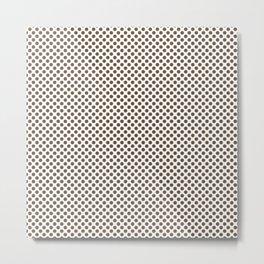 Sepia Polka Dots Metal Print