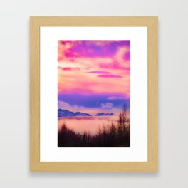 Alaskan Winter Fog Digital Painting Framed Art Print