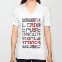 paramore V-neck T-shirts featuring Trust in Trance Music by Sitchko Igor