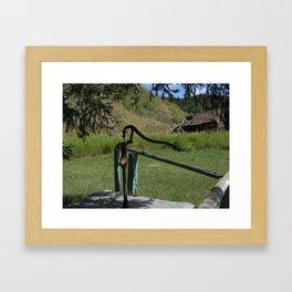 The Hand Pump Framed Art Print
