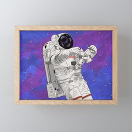Hypebeast Spaceman Floating In Space | High Quality Artwork Framed Mini Art Print