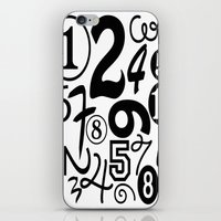 numbers iPhone & iPod Skins featuring Numbers by Sweet Colors Gallery