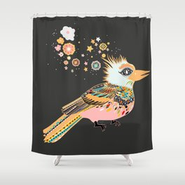 Orange Kiwi Shower Curtain