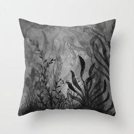 Watercolor Ocean Life Foliage Throw Pillow