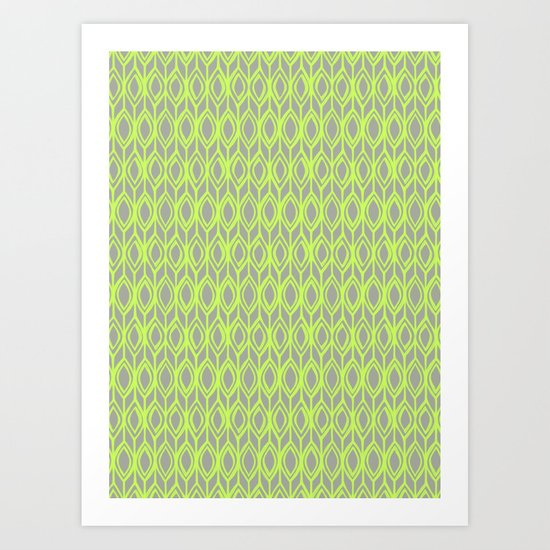 Tulip Knit in Lime & Grey Art Print