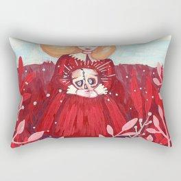 red field Rectangular Pillow