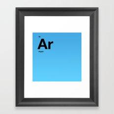 Argon Framed Art Print