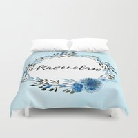 ravenclaw Duvet Covers featuring HP Ravenclaw in Watercolor  by Snazzy Sisters