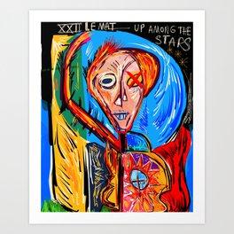 Le Mat The Fool Graffiti Art Tarot by Emmanuel Signorino  Art Print
