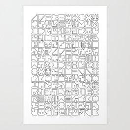 Printed Pixels Art Print