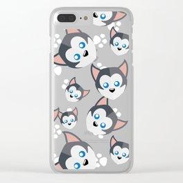 Siberian Husky Clear iPhone Case