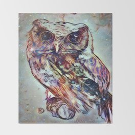 Owl 3 Throw Blanket