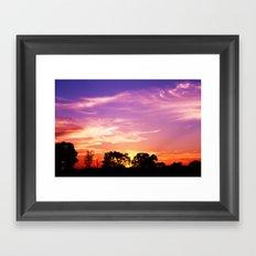 East Texas Sunset Framed Art Print