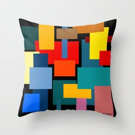Color Blocks #8-2 Throw Pillow