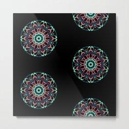 Digital Flower Metal Print