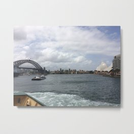 Harbour Bridge and the Opera House Metal Print