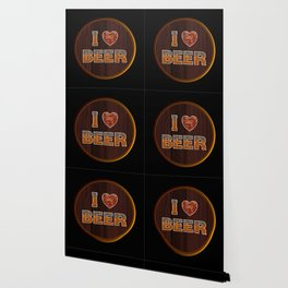 I Love Beer Keg Wallpaper