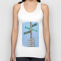springsteen Tank Tops featuring Springstreets by Nicko-Suave