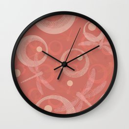 Dragonflies on the coral. Wall Clock