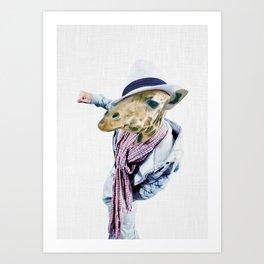 JAFFAR HIPSTAR Art Print