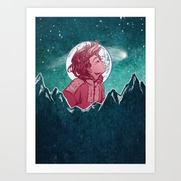 The Astronomer Who Met The North Wind Art Print