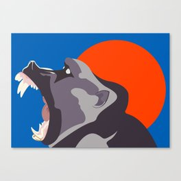 Baboon Moon Canvas Print