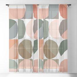 Modern Retro Circles 2 Sheer Curtain